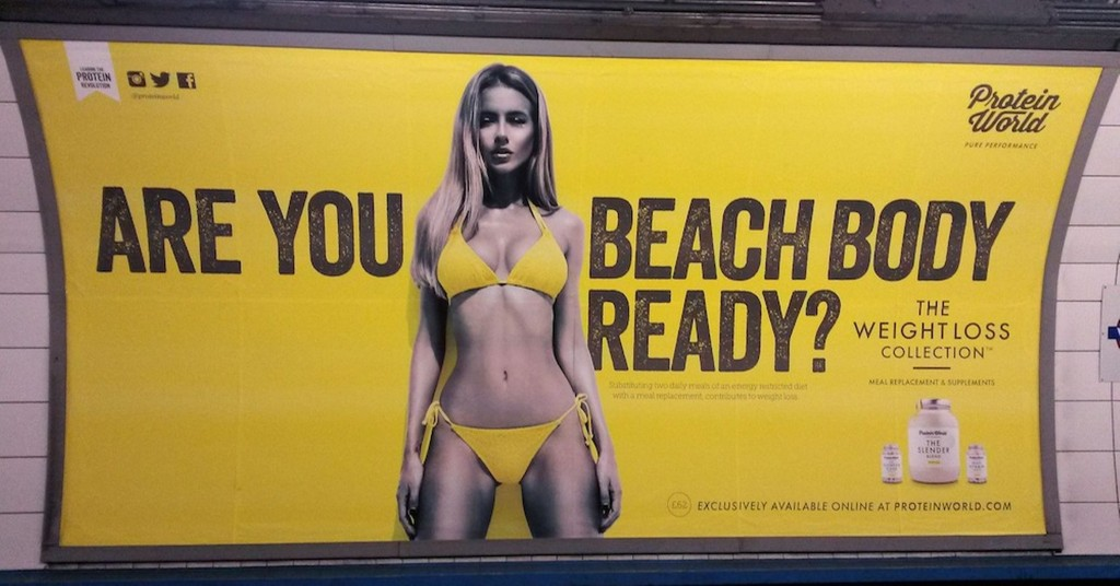 Originele poster Protein World campagne